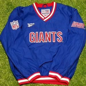 Vintage New York Giants Reebok Pullover Jacket
